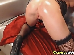 Redhead Babe Fucks Myself With Their way Dildo ( More at - www.girls-cams.top )