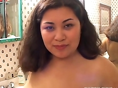 Be in charge sexy busty asian BBW thinks of you as she fucks her juicy pussy
