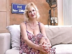 (50s) Mature does interview -   http://www.eighteen.tv