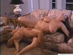 05 Pretty good and brunette lesbians swell up and rub pussies pile up on couch1-Visit  LESBIAN-SEX.ML for CA