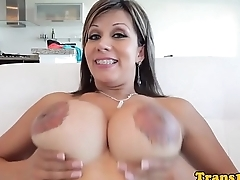 Tranny take inked tits cumsoaked after scene