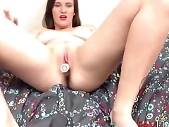 Flexible young gal with big jugs and dark secret