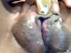 Black Ebony Masturbation Webcam very Creamy Free Porn