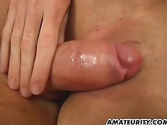Hot blonde amateur girlfriend fucks with creampie