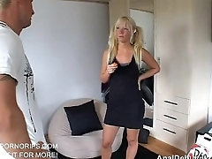 Anal debut for hot blonde schoolgirl