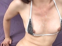 Izumi Manaka needy mommy loves cum on face