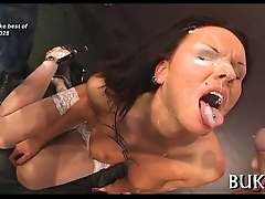 Wild and indelicate blow gangbang
