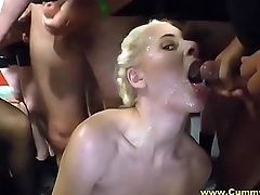Milfs A torch for Cum Swapping In Messy Gangbang