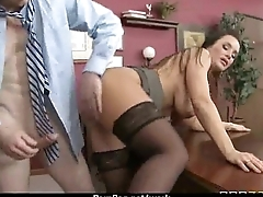 Big breasted babe pussy stuffed in office 10