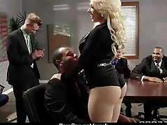 Horny Big-tit MILF fucks employee'_s big-dick in the office 13