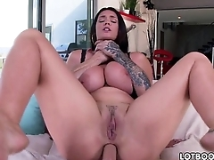 Telling boobs of Alison Tyler with bubble butt for anal