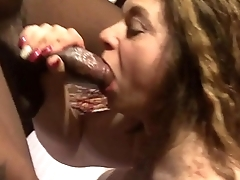 BBC slut Connie Swings sucking a BBC
