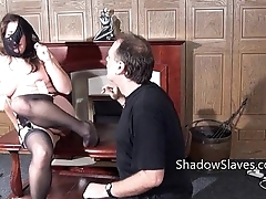 Amateur slave Jannas kinky fetish and perverse utensil fucking and pussy punished