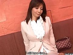 X-rated Yuka on every side big juicy boobs rides a sex toy