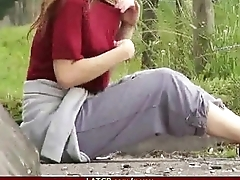 Teen hottie fucked hard in homemade tape by old scold 18
