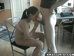 Ronni and the skinny Ariane have a kitchen fuck