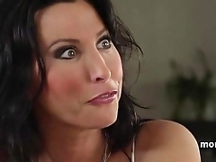 Horny step mom gives a lesson in dick sucking