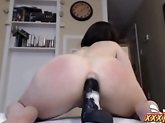 MILF Loves Beamy Black Dildo In Ass ★ xxxTurn.com