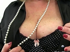 British grannies Alisha Rydes coupled with Sandie going solely