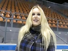Euro Teen Babe Get Their way Pussy Fucked Outdoor For Money 07
