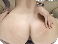 Hot big ass slapping and spreading on cam