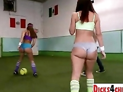 Dream soccer match and sex with dream-assed babes - dicks4chicks.com