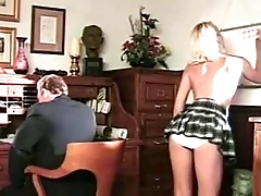 Teacher delights with blonde student, queen of deep and delicious