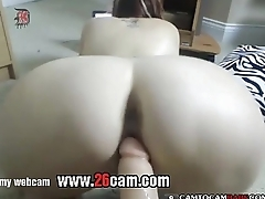 Big ass slim dame fucking big dildo live cam