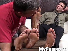 Hot studs Cole coupled with Kenny love near have their feet worshipped