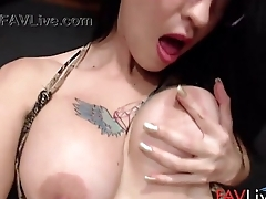 Try tattooed latina Eva Ferrara with huge boobs
