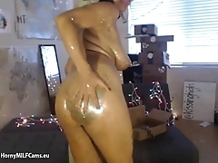 hot milf with white-headed painted body - hornymilfcams.eu