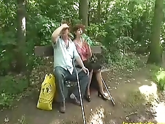 redhead granny pumped in her loved stingy pussy
